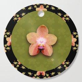Magenta Peach Phalaenopsis Orchid Pattern Cutting Board