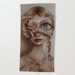 Miss Vanilla Beach Towel
