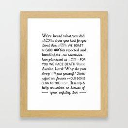 Psalm 44 Framed Art Print