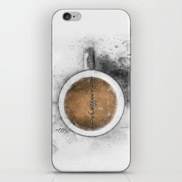 Coffee Heartbeat iPhone Skin