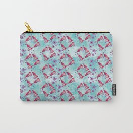 Blue and Pink Flying Tehuana Pattern Carry-All Pouch