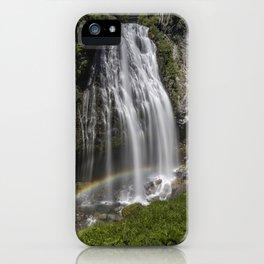 Rainbow Passing Through Narada Falls iPhone Case