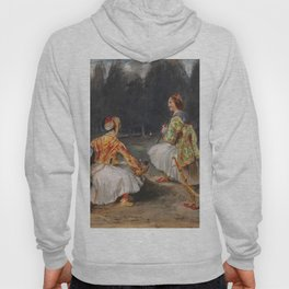 """Eugène Delacroix """"Two Greek soldiers in a clearing in a forest"""" Hoody"""