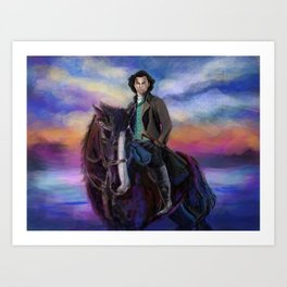 Majestic Poldark Art Print