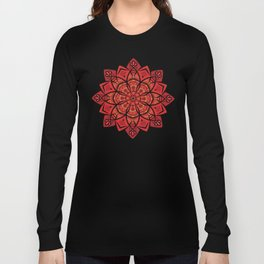 Sunny bright rays of floral mandala Long Sleeve T-shirt