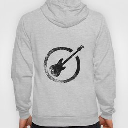 Bass Guitar Ink Stamp Hoody