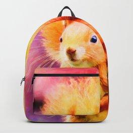 squirrel digital oil paint dopstd Backpack
