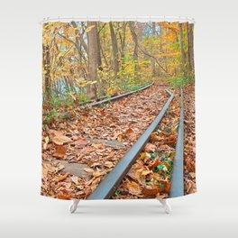 Abandoned Autumn Railroad Shower Curtain