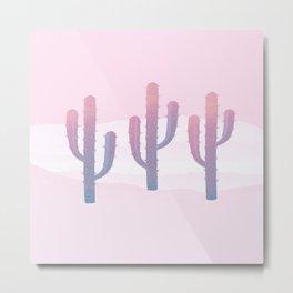 Dreamy Pastel Cacti Design Metal Print