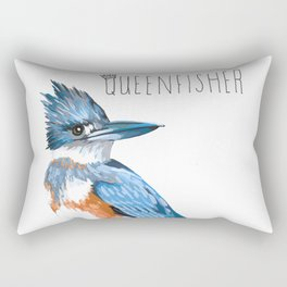 Queenfisher (Belted Kingfisher) Rectangular Pillow