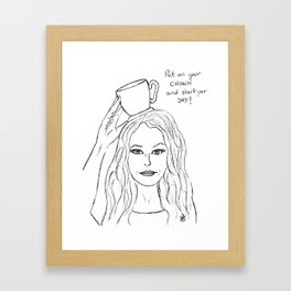 Coffee crown Framed Art Print