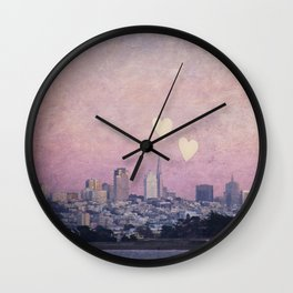 Where We Left Our Hearts Wall Clock