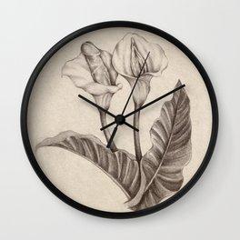 Born Flowers Wall Clock