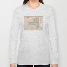 Vintage Geological Map of New York State (1870) Long Sleeve T-shirt