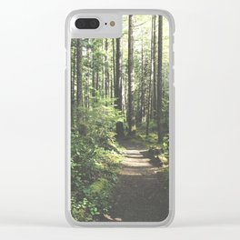 Old Forest Path Clear iPhone Case