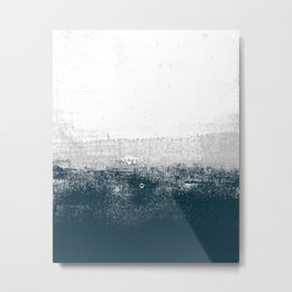 Ocean No. 1 - Minimal ocean sea ombre design  Metal Print