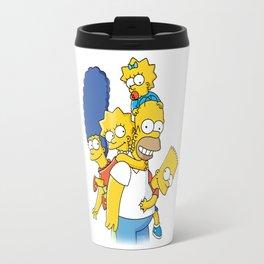 happy simpson family Travel Mug