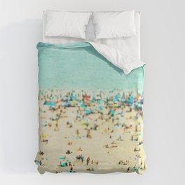Coney Island Beach Duvet Cover