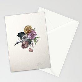 Bird Skull Garden Stationery Cards