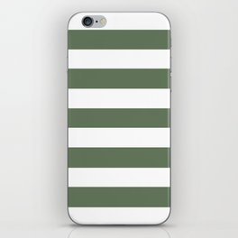Axolotl - solid color - white stripes pattern iPhone Skin
