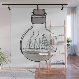 The Ship in the Bulb Wall Mural