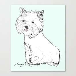 West Highland Terrier Canvas Print