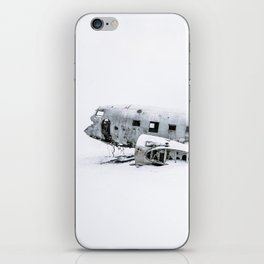Plane Wreck in Iceland in Winter - Landscape Photography Minimalism iPhone Skin
