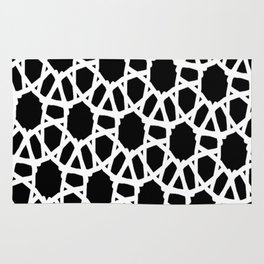 Blk white Crochet Rug