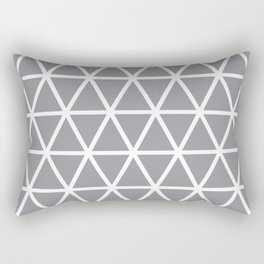 Grey Triangle Pattern 3 Rectangular Pillow
