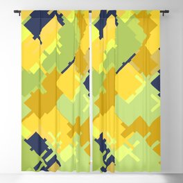 Hide and seek with kangaroo: trendy modern colors from rectangles Blackout Curtain