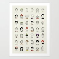 Art Prints featuring The Characters of W by Alejandro Giraldo