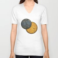 sun and moon V-neck T-shirts featuring Sun &  Moon by Jonathan Knight
