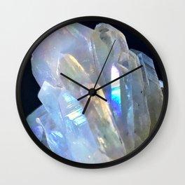 Angel Aura Clear Quartz Crystal Cluster Unicorn Mystical Magical Castle Fantasy Wall Clock