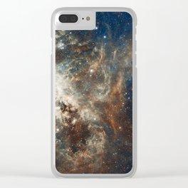 In the Heart of the Tarantula Nebula Clear iPhone Case