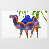 camel Area & Throw Rugs featuring Camel by haroulita