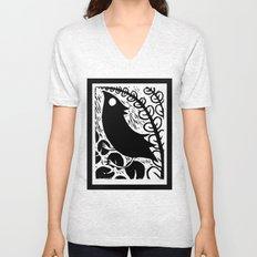 Doodlebird Print Unisex V-Neck