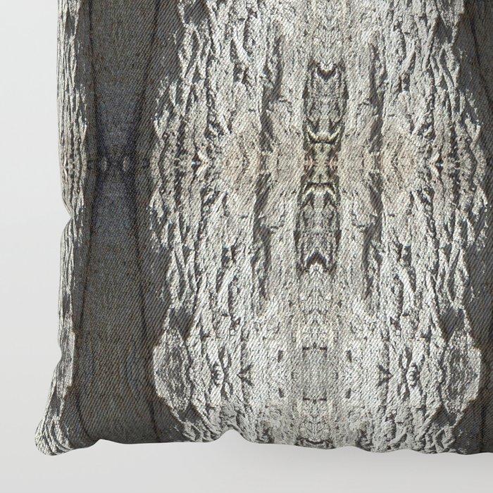 Oak Tree Bark Vertical Pattern by Debra Cortese Designs Floor Pillow