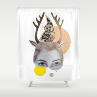 logo Shower Curtains featuring Logo by Amy Bannister