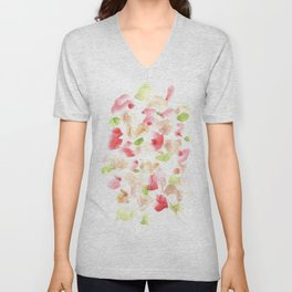 170722 Colour Loving 1|Modern Watercolor Art | Abstract Watercolors Unisex V-Neck
