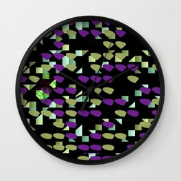Magenta Lime Floaters Wall Clock