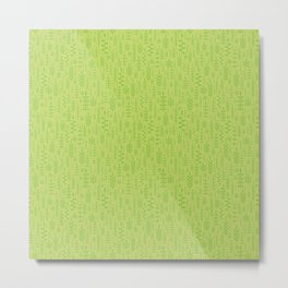 Soft green leaves Metal Print