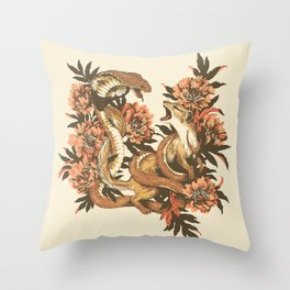 Snake & Mongoose Throw Pillow