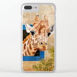 Suddenly A Giraffe Clear iPhone Case