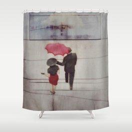 Walk In The Rain Shower Curtain