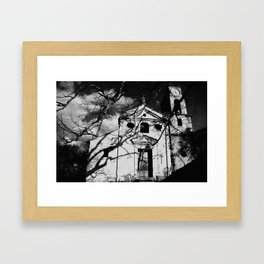 ABANDONED CHURCH, ITALY. Framed Art Print