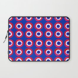 Donut Evil Eye Amulet Talisman - red on blue doughnut Laptop Sleeve