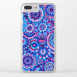 blue hope Clear iPhone Case