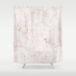 Vintage Rose Marble Gold Mine Shower Curtain