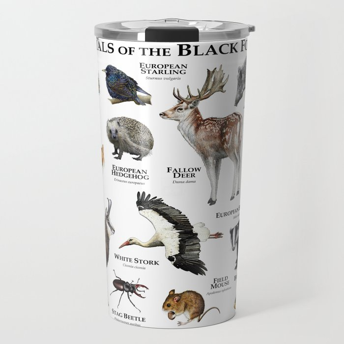 Animals of the Black Forest Travel Mug