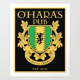 O'Hara's Pub Art Print